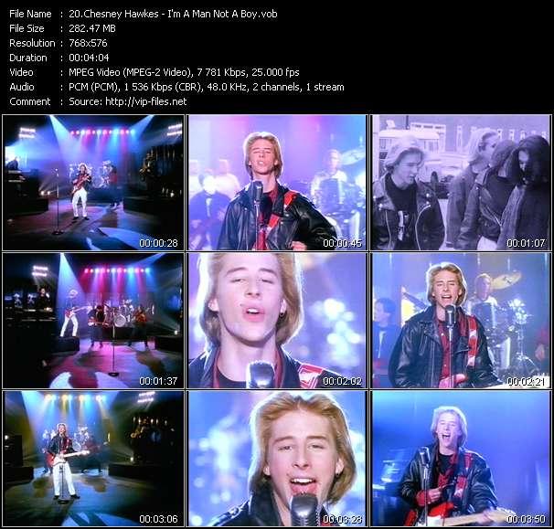 Screenshot of Music Video Chesney Hawkes - I'm A Man Not A Boy