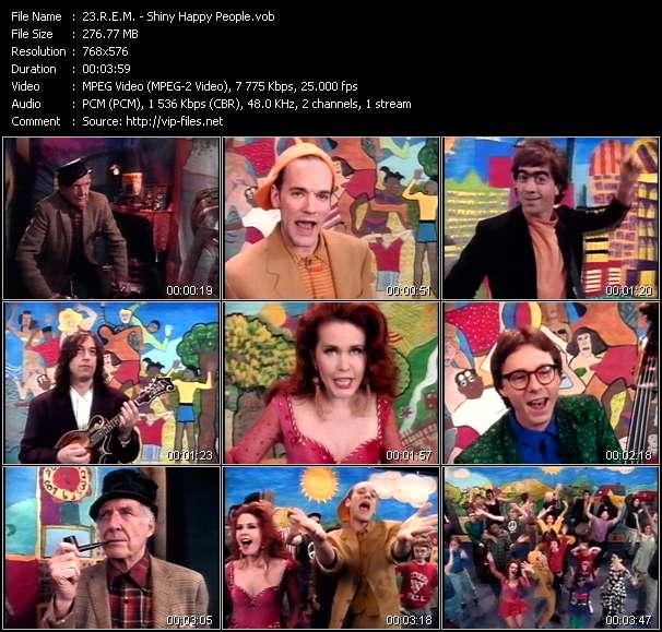 Screenshot of Music Video R.E.M. - Shiny Happy People