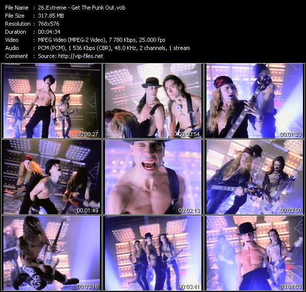 Screenshot of Music Video Extreme - Get The Funk Out