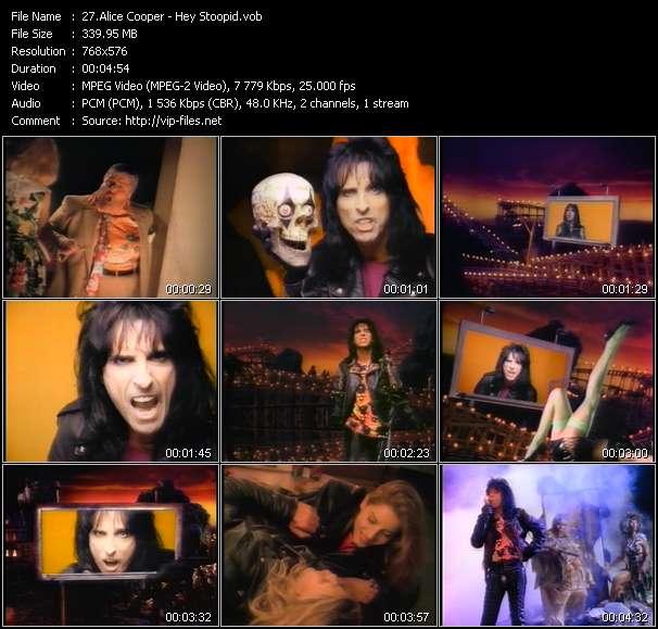 Screenshot of Music Video Alice Cooper - Hey Stoopid