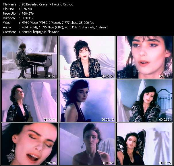 Screenshot of Music Video Beverley Craven - Holding On