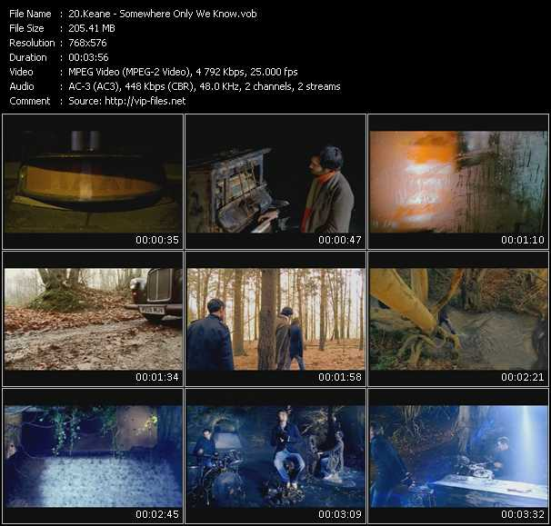 Screenshot of Music Video Keane - Somewhere Only We Know