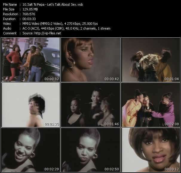 Screenshot of Music Video Salt-N-Pepa - Let's Talk About Sex