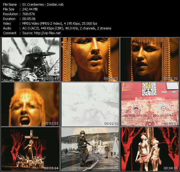 Screenshot of Music Video Cranberries - Zombie
