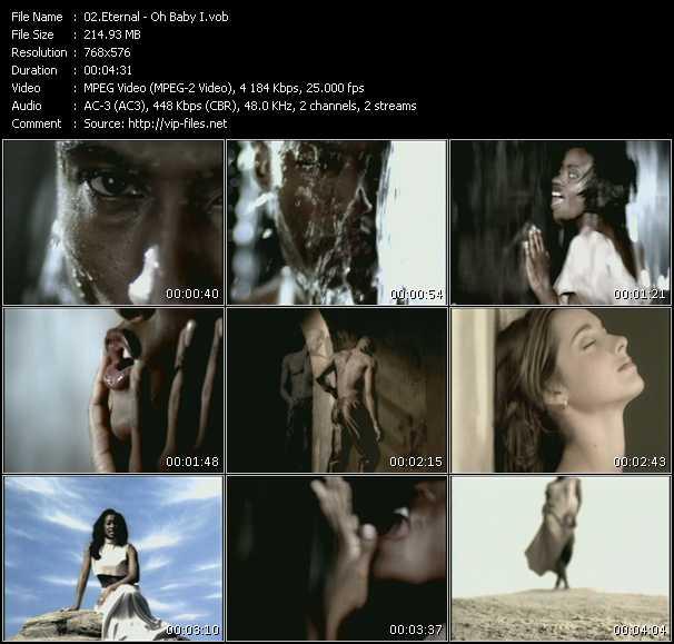 Screenshot of Music Video Eternal - Oh Baby I ...