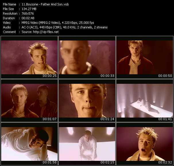 Screenshot of Music Video Boyzone - Father And Son