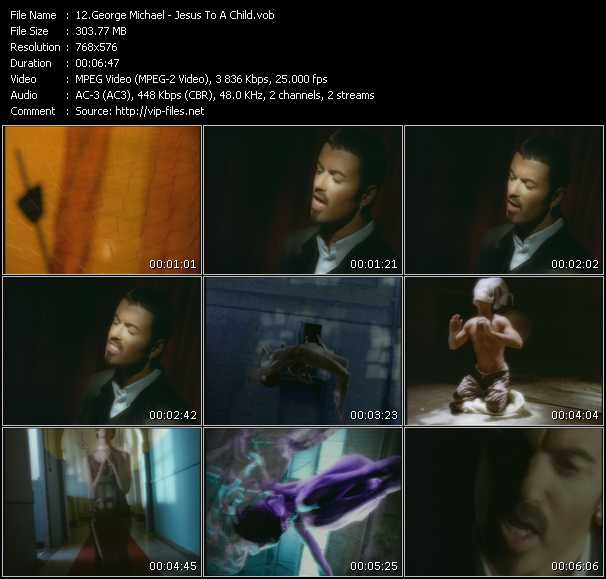 Screenshot of Music Video George Michael - Jesus To A Child