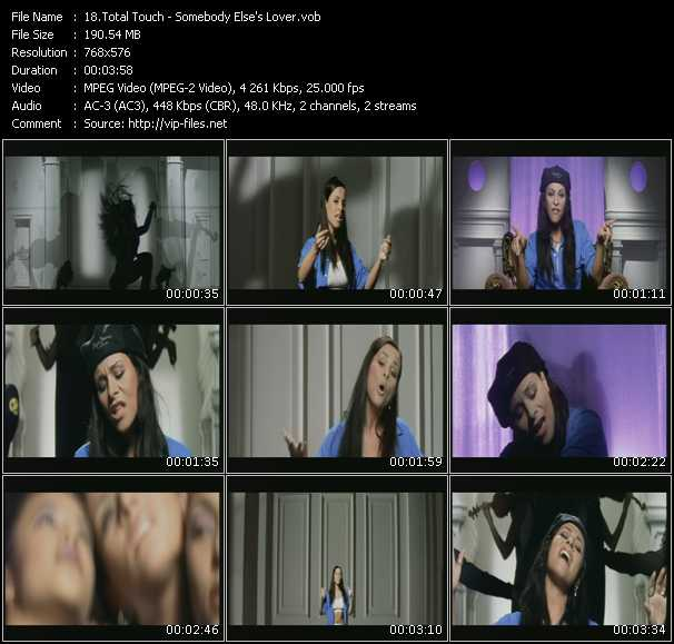 Screenshot of Music Video Total Touch - Somebody Else's Lover