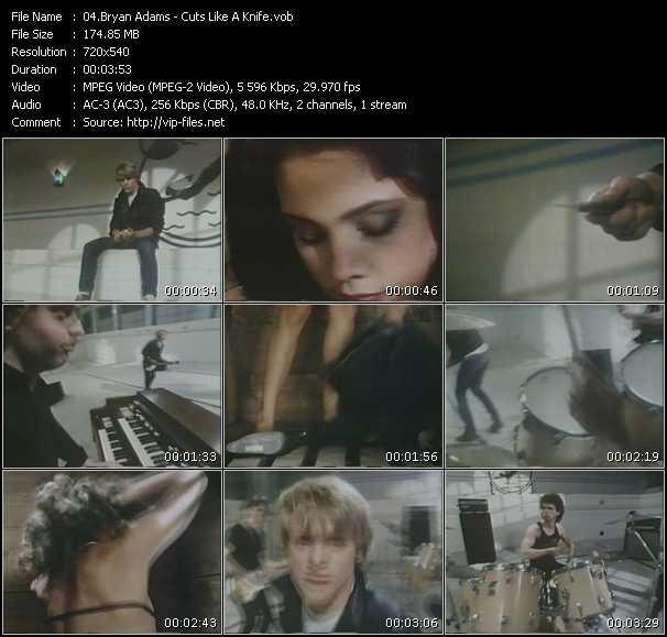 Screenshot of Music Video B. Adams - Cuts Like A Knife