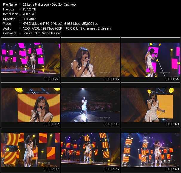 Screenshot of Music Video Lena Philipsson - Det Gor Ont
