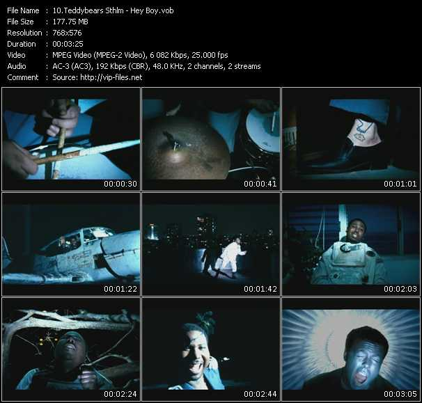 Screenshot of Music Video Teddybears Sthlm - Hey Boy