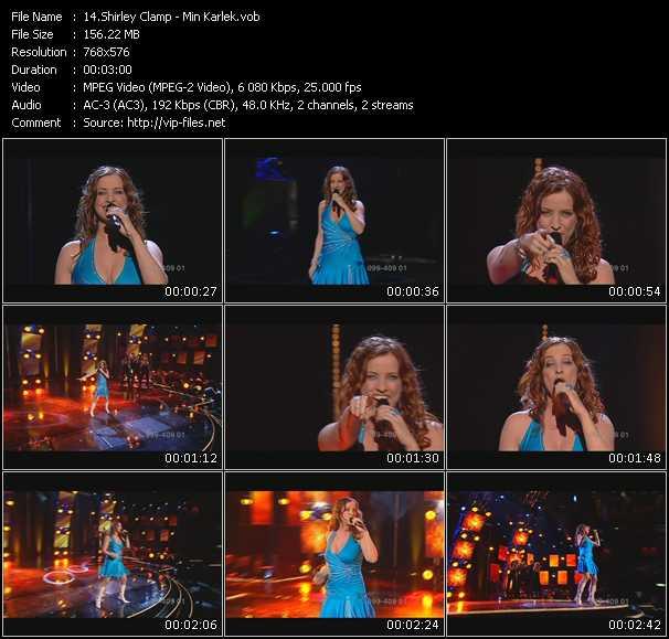 Screenshot of Music Video Shirley Clamp - Min Karlek