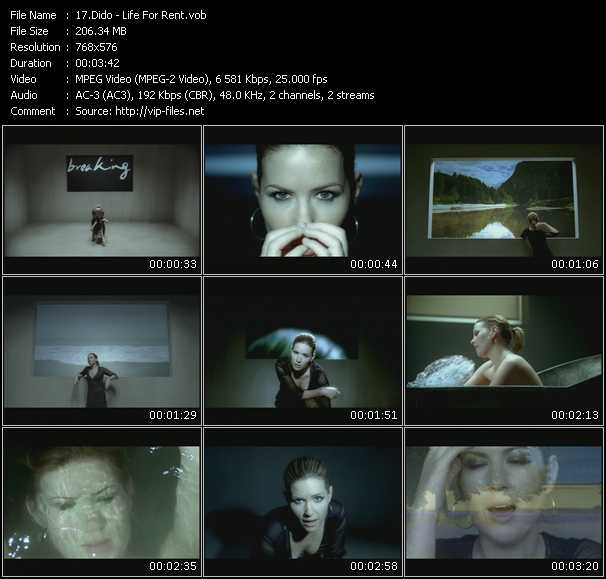 Screenshot of Music Video Dido - Life For Rent