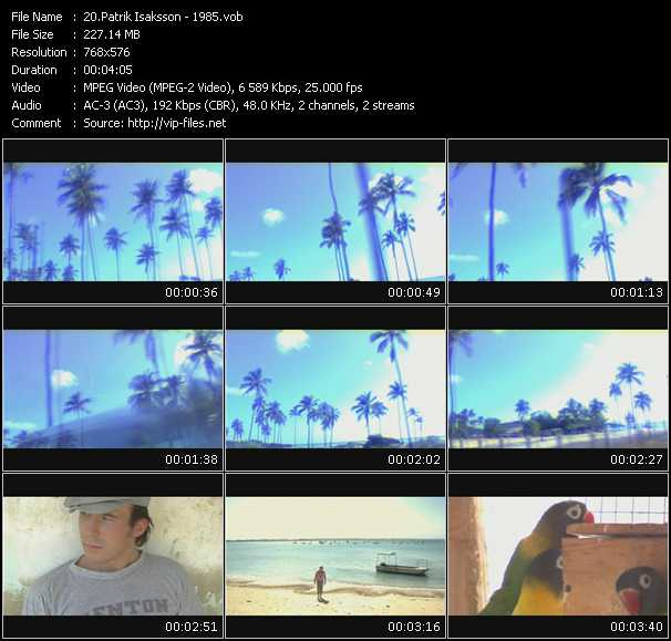 Screenshot of Music Video Patrik Isaksson - 1985