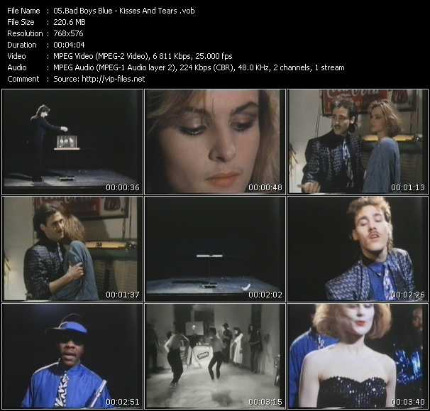 Screenshot of Music Video Bad Boys Blue - Kisses And Tears
