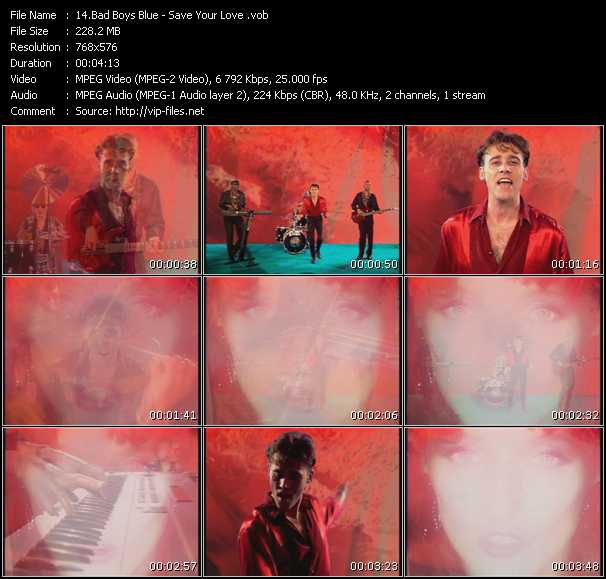 Screenshot of Music Video Bad Boys Blue - Save Your Love
