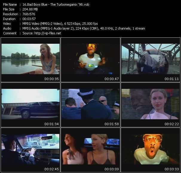 Screenshot of Music Video Bad Boys Blue - The Turbomegamix '98