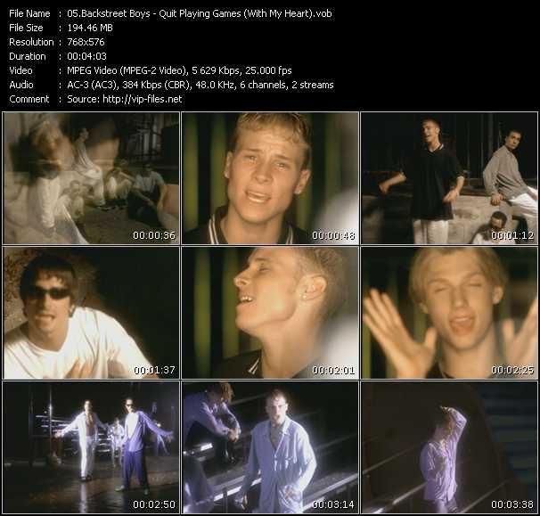 The Backstreet Boys - Quit Playing Games (With My Heart