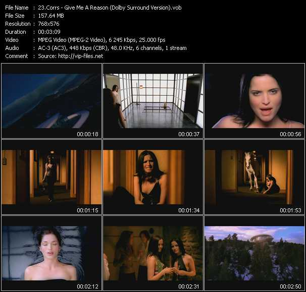 Screenshot of Music Video Corrs - Give Me A Reason (Dolby Surround Version)