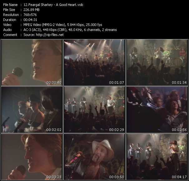 Screenshot of Music Video Feargal Sharkey - A Good Heart