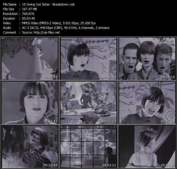 Screenshot of Music Video Swing Out Sister - Breakdown
