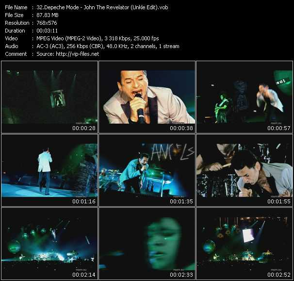 Screenshot of Music Video Depeche Mode - John The Revelator (Unkle Edit)