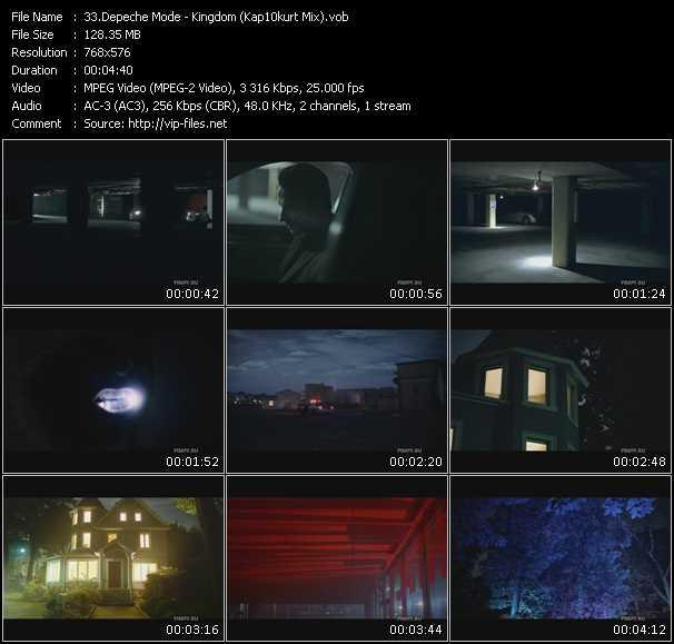 Screenshot of Music Video Depeche Mode - Kingdom (Kap10kurt Mix)