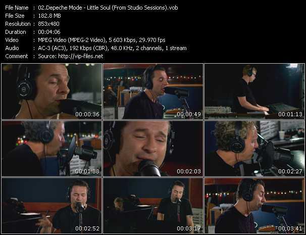 Screenshot of Music Video Depeche Mode - Little Soul (From Studio Sessions)