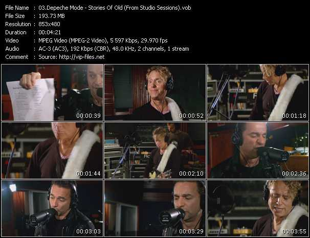 Screenshot of Music Video Depeche Mode - Stories Of Old (From Studio Sessions)