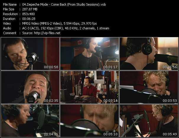 Screenshot of Music Video Depeche Mode - Come Back (From Studio Sessions)