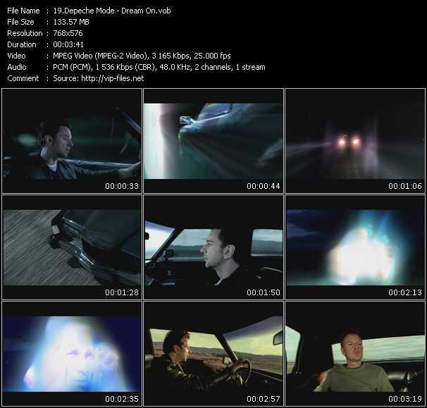 Screenshot of Music Video Depeche Mode - Dream On
