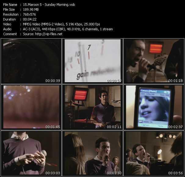 Maroon 5 video vob