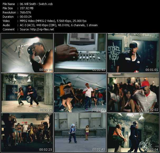 Screenshot of Music Video Will Smith - Switch