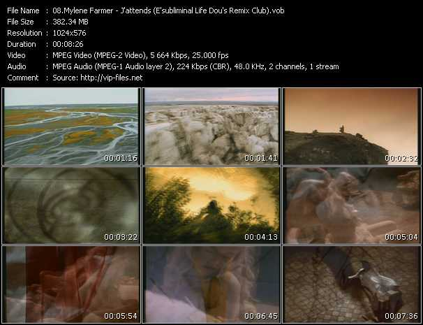 Mylene Farmer clips musicaux vob