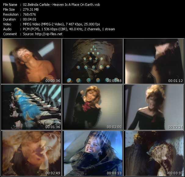 Screenshot of Music Video Belinda Carlisle - Heaven Is A Place On Earth