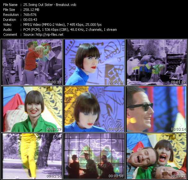 Screenshot of Music Video Swing Out Sister - Breakout