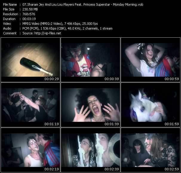 Sharam Jey And Loulou Players Feat. Princess Superstar video vob