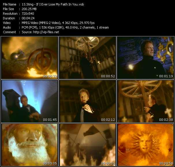 Screenshot of Music Video Sting - If I Ever Lose My Faith In You