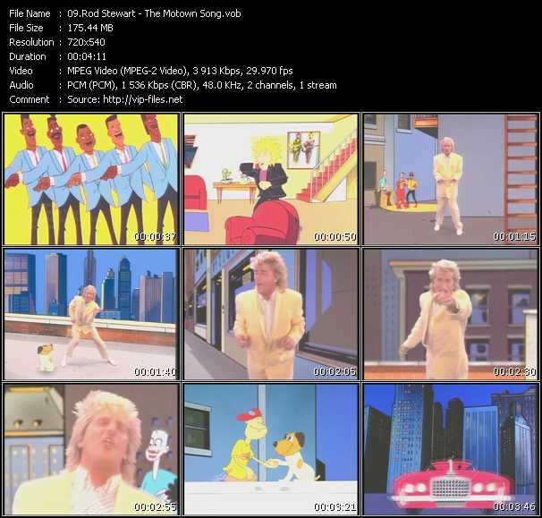 Screenshot of Music Video Rod Stewart - The Motown Song