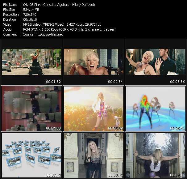 Pink - Christina Aguilera - Hilary Duff video vob