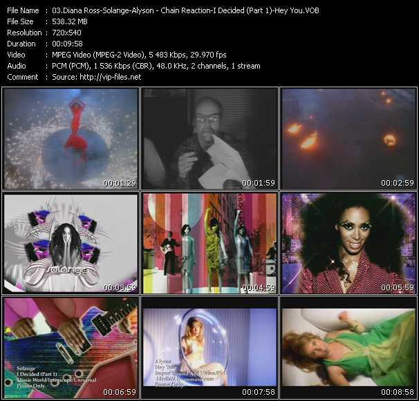 Diana Ross - Solange - Alyson video vob