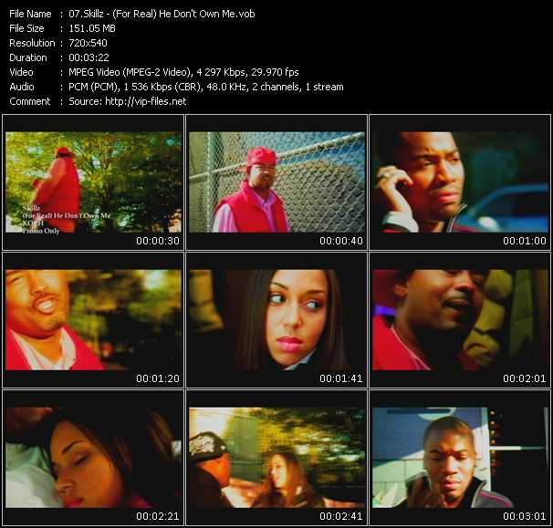 Screenshot of Music Video Skillz - (For Real) He Don't Own Me