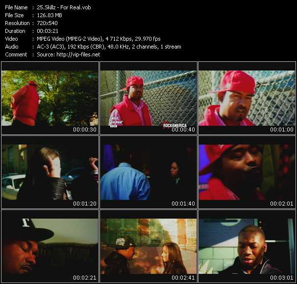 Screenshot of Music Video Skillz - For Real