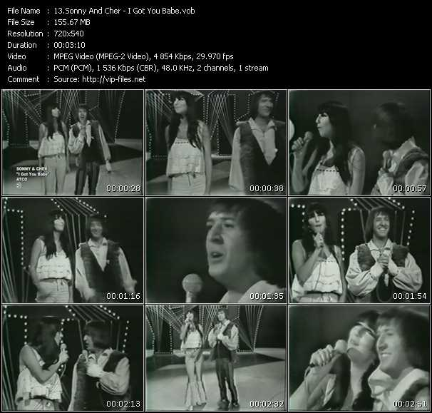 Screenshot of Music Video Sonny And Cher - I Got You Babe