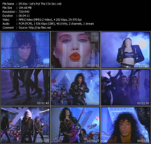 Screenshot of Music Video Kiss - Let's Put The X In Sex