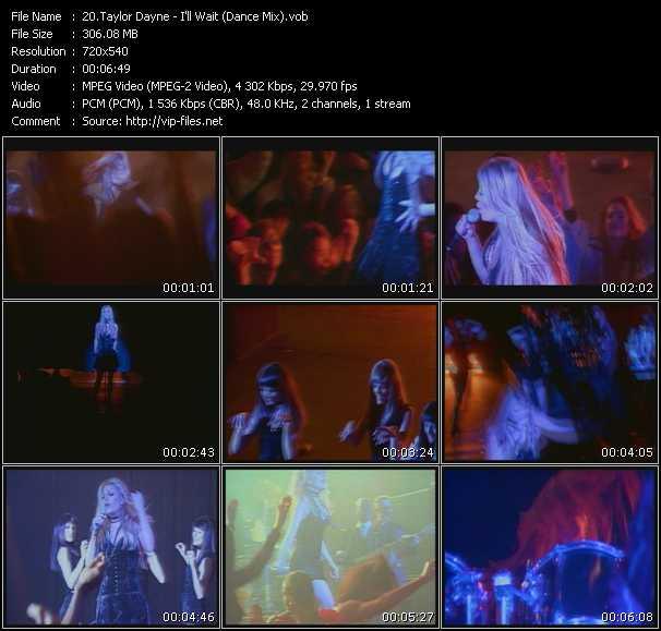 Screenshot of Music Video Taylor Dayne - I'll Wait (Dance Mix)