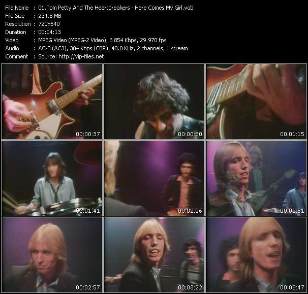 Screenshot of Music Video Tom Petty And The Heartbreakers - Here Comes My Girl