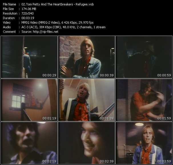 Screenshot of Music Video Tom Petty And The Heartbreakers - Refugee