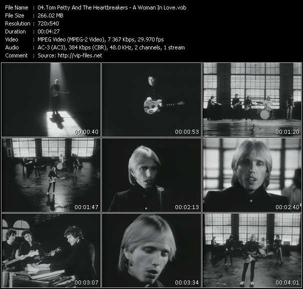 Screenshot of Music Video Tom Petty And The Heartbreakers - A Woman In Love