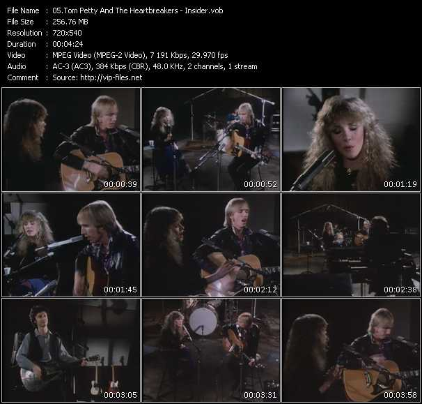 Screenshot of Music Video Tom Petty And The Heartbreakers - Insider
